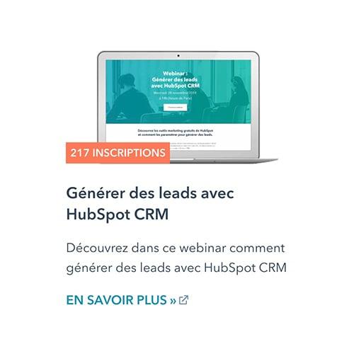 Générer des leads avec HubSpot CRM