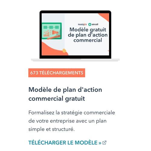 Modèle de plan d'action commercial gratuit